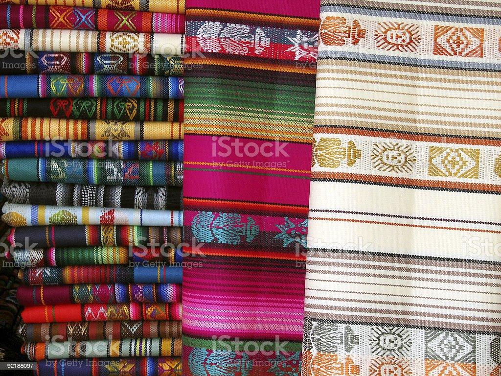 Otavalo Blankets royalty-free stock photo