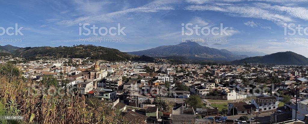 Otavalo, Ecuador - panorama overlooking the city stock photo