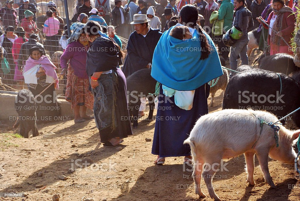 Otavalo Market stock photo