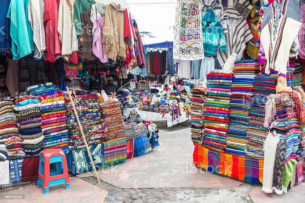 Otavalo Souvenir Stands stock photo