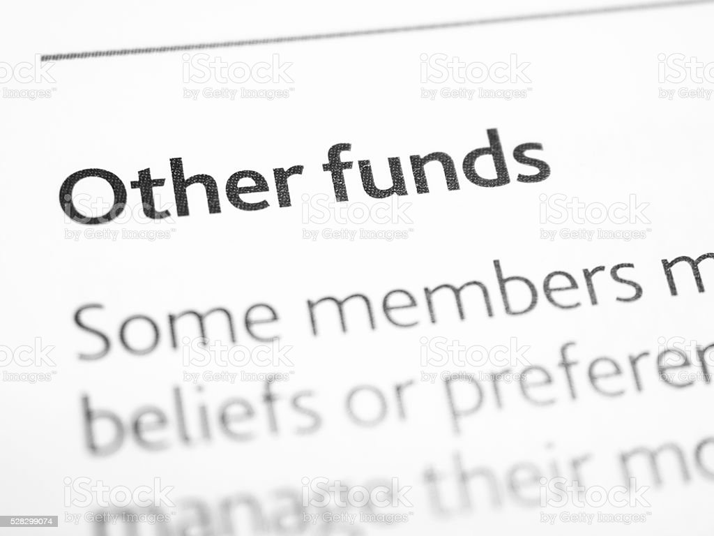Other funds stock photo