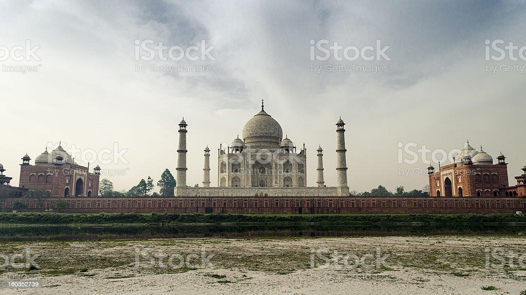 Other Side Of Taj Mahal stock photo