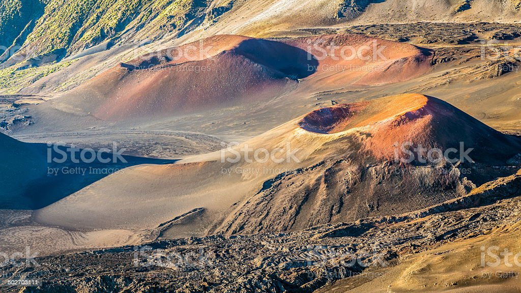Otherworldly Volcanic landscape stock photo