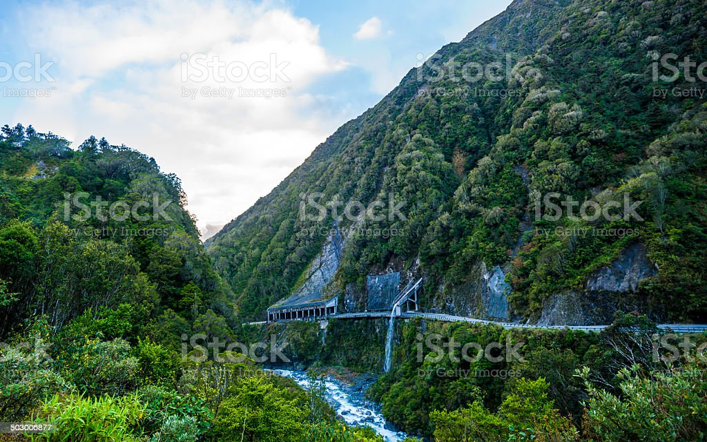 Otira Tunnel, Aruther's Pass, New Zealand stock photo