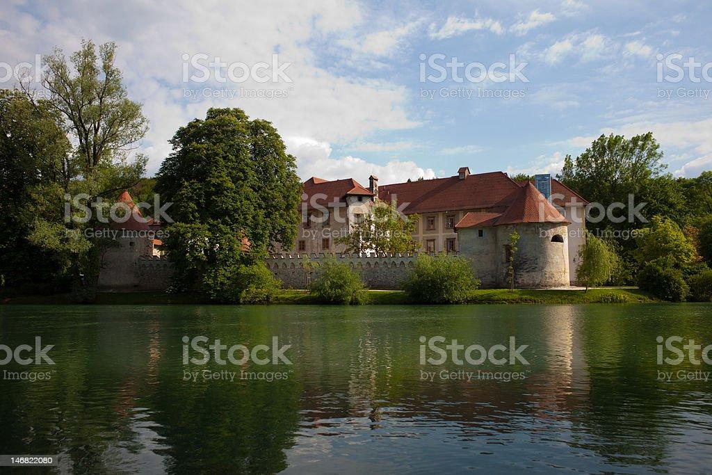 Otocec castle stock photo