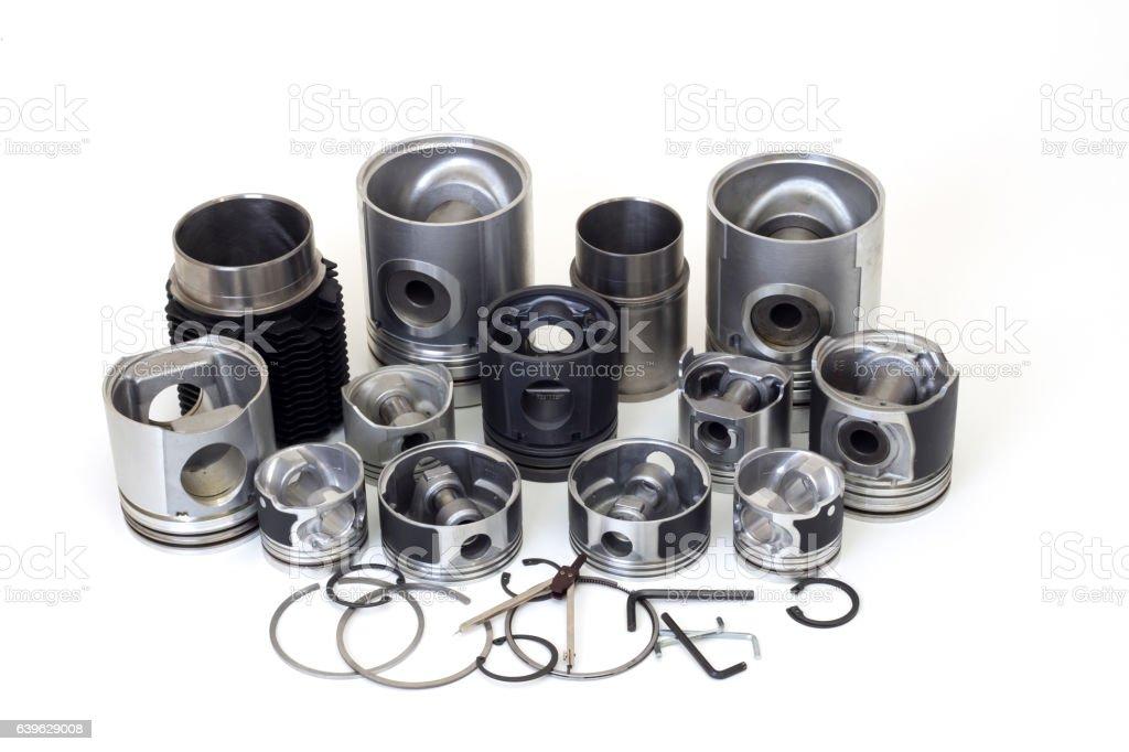 otomobil piston parts stock photo