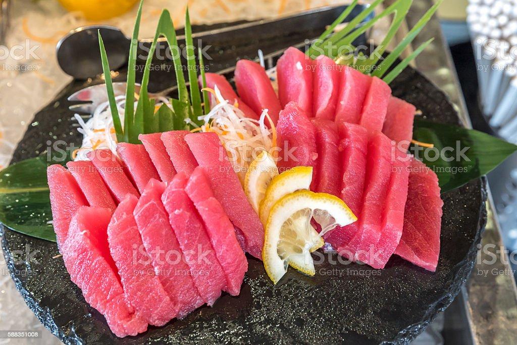 Otoro tuna sashimi stock photo