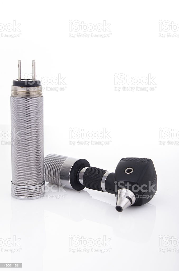 Otoscope isolated studio shot stock photo