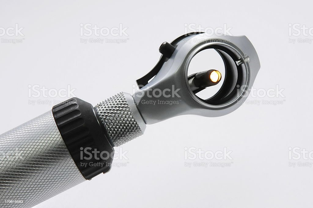 Otoscope set.... medical device  to look into the ears royalty-free stock photo