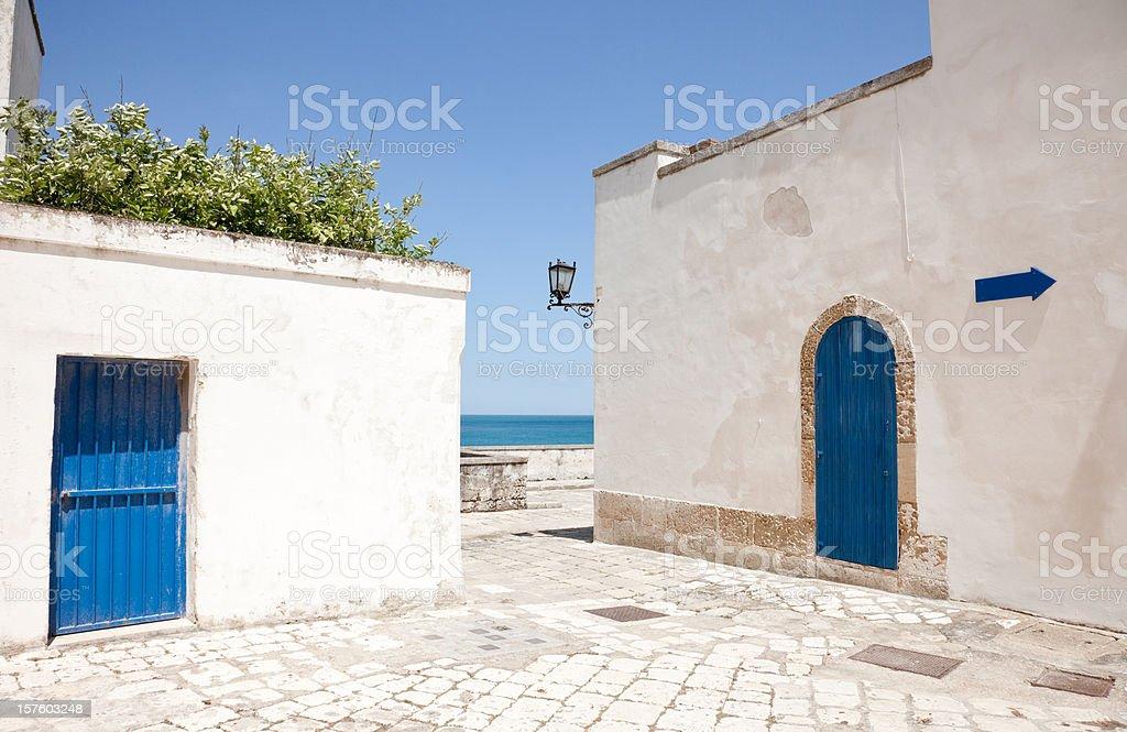 Otranto Houses stock photo