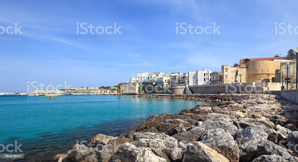 Otranto sea front, Salento coast Puglia Italy stock photo