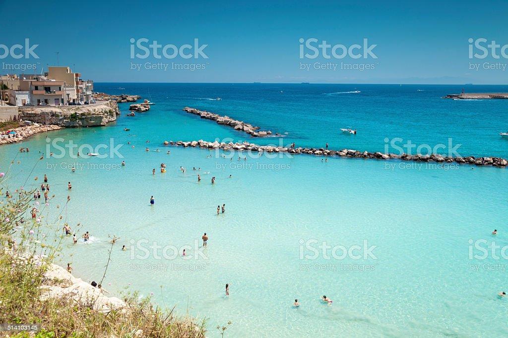 Otranto town in Puglia Italy stock photo