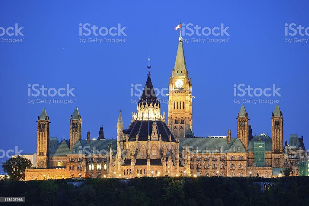 Ottawa at night royalty-free stock photo