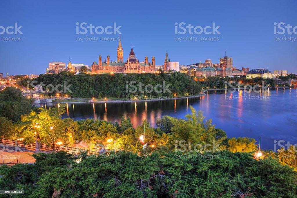 Ottawa City and River royalty-free stock photo