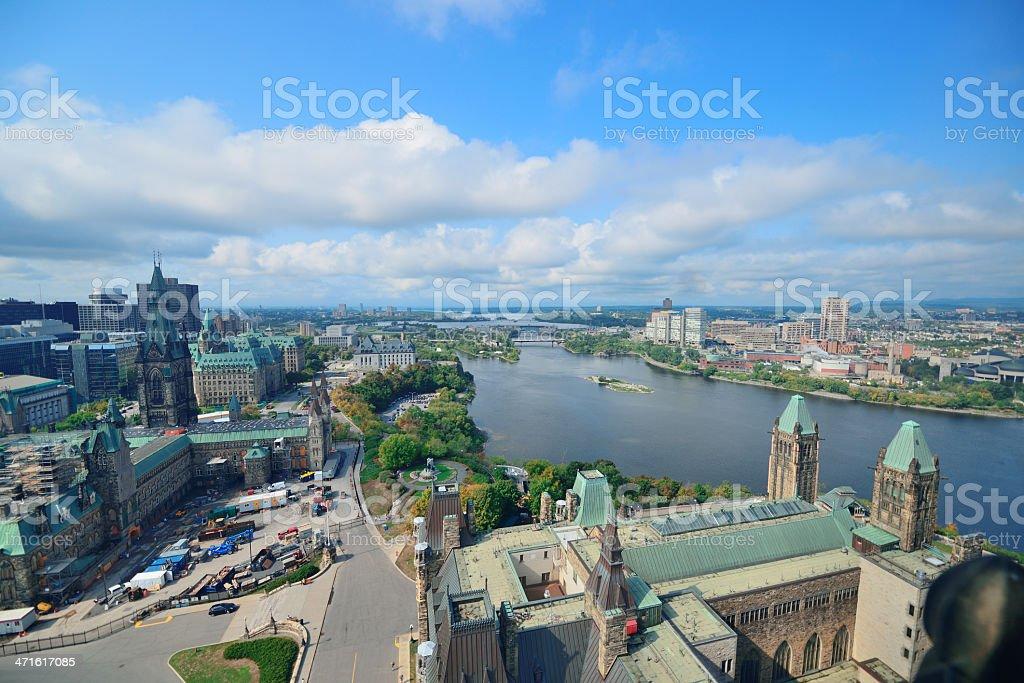 Ottawa cityscape royalty-free stock photo