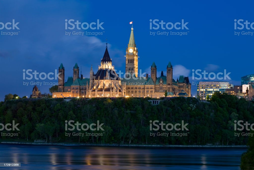 Ottawa Dusk Parliament royalty-free stock photo