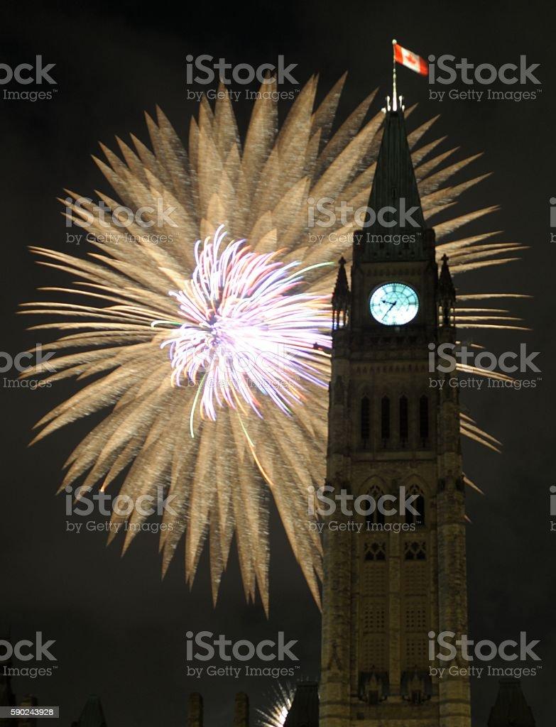 Ottawa Fireworks stock photo