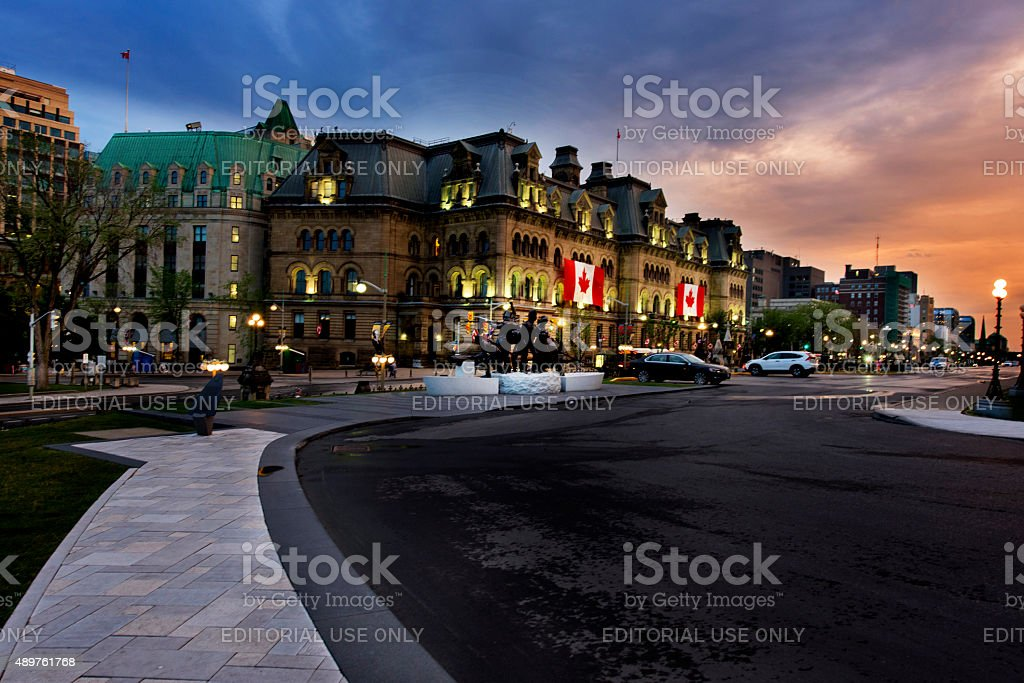 Ottawa in dusk stock photo