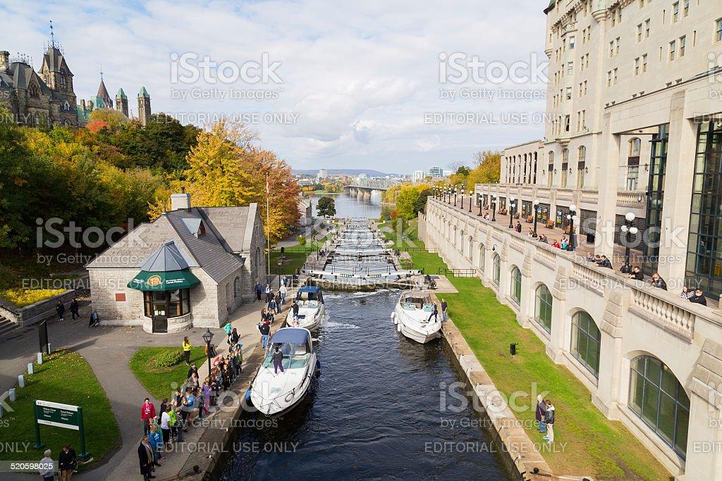 Ottawa Locks stock photo
