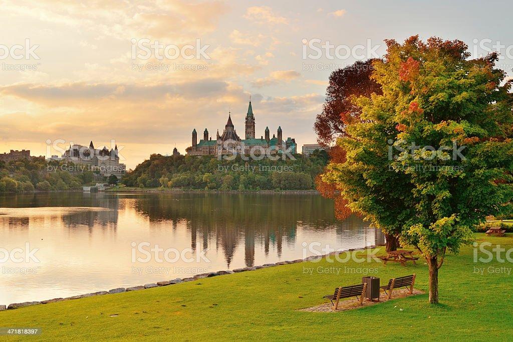 Ottawa morning stock photo
