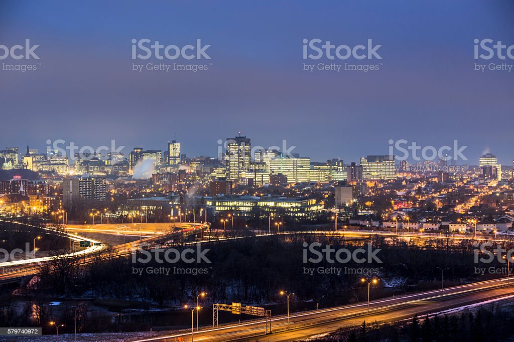 Ottawa Ontario Canada skyline view stock photo