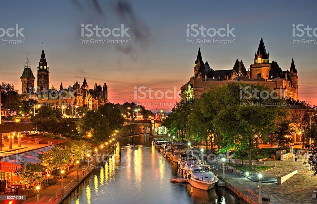 Ottawa Ontario Canada Summer Sunset stock photo