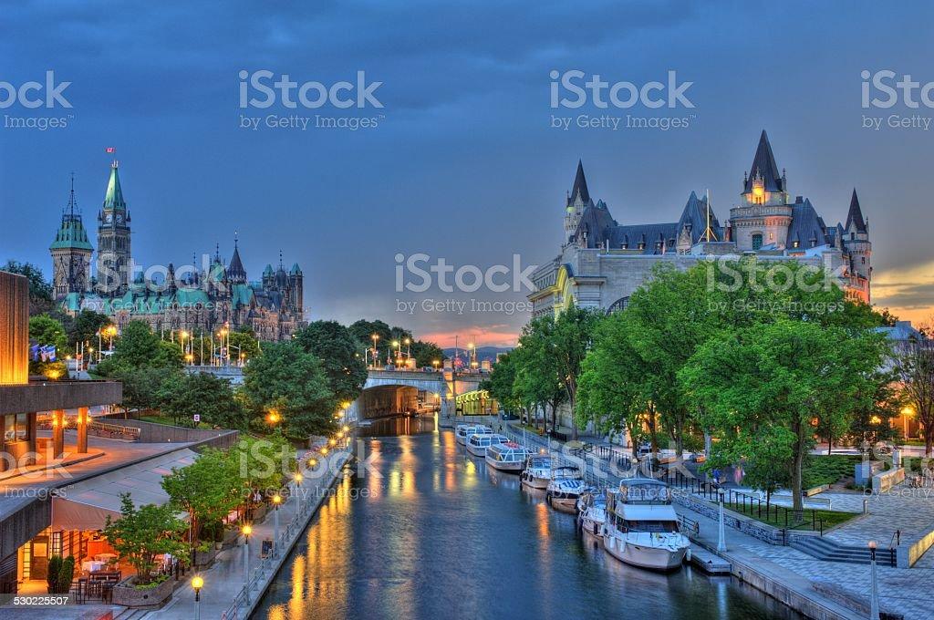 Ottawa Ontario Canada Sunset stock photo