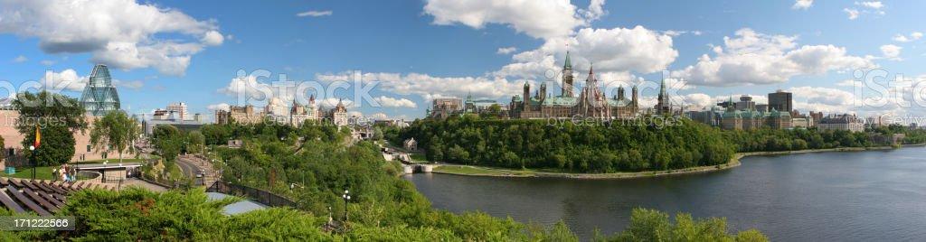 Ottawa Panoramic Landscape stock photo