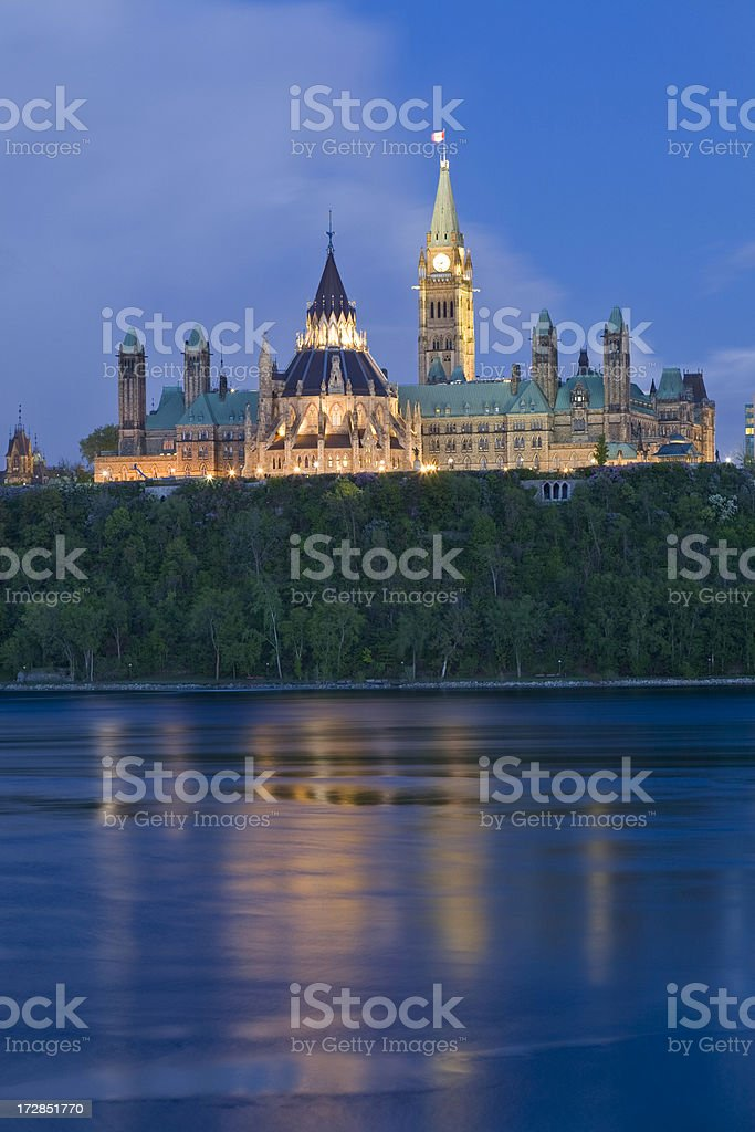 Ottawa Parliament Hill royalty-free stock photo