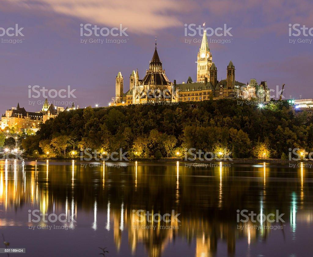 Ottawa Parliament Hill stock photo