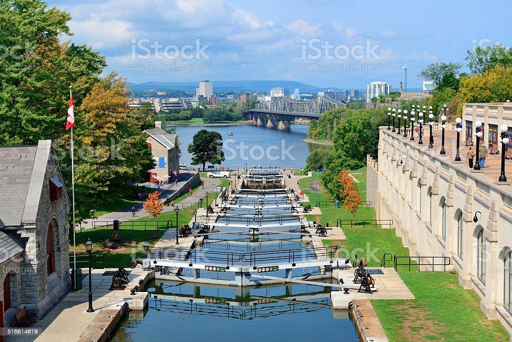 Ottawa Rideau Canal stock photo