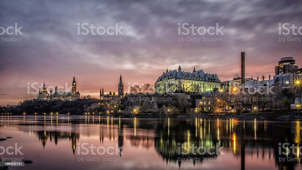 Ottawa River at Sunrise stock photo
