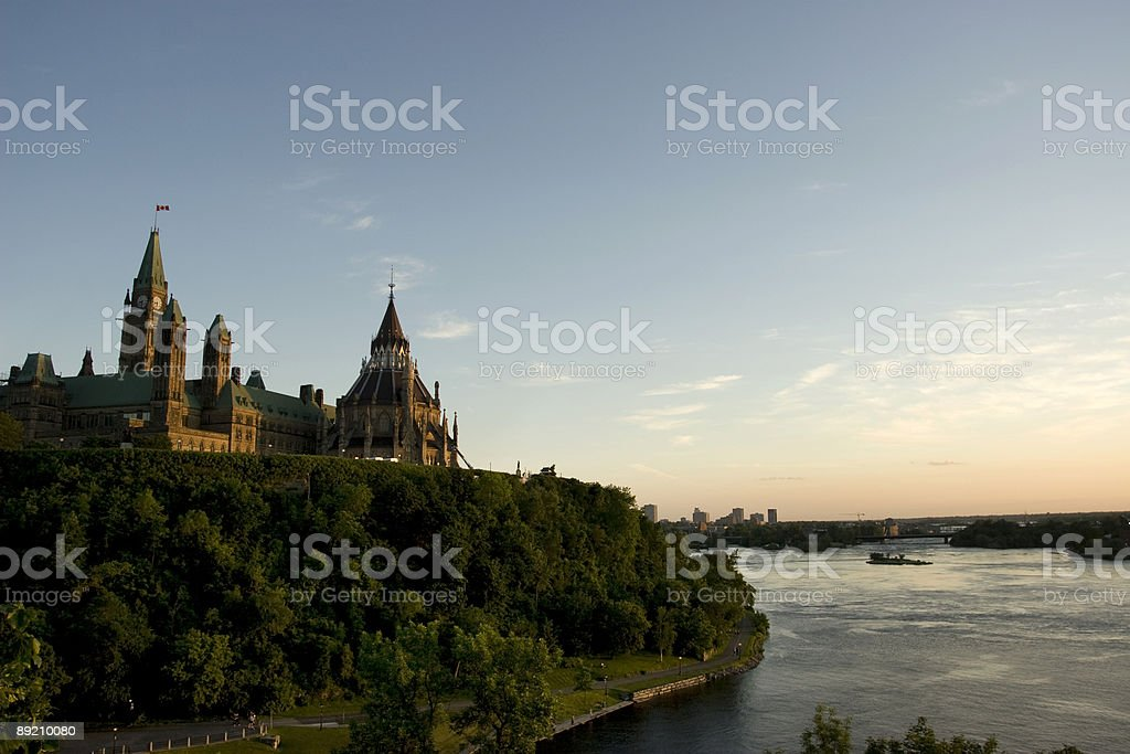 Ottawa River at Sunset royalty-free stock photo