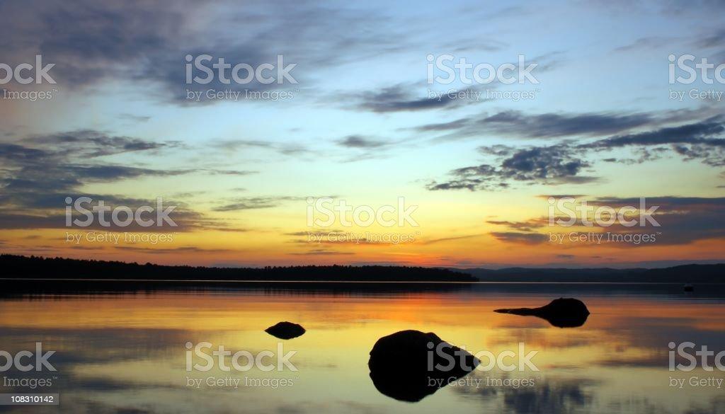 Ottawa river dusk stock photo
