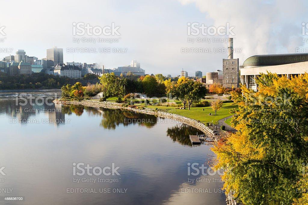 Ottawa Skyline and Park in Hull stock photo