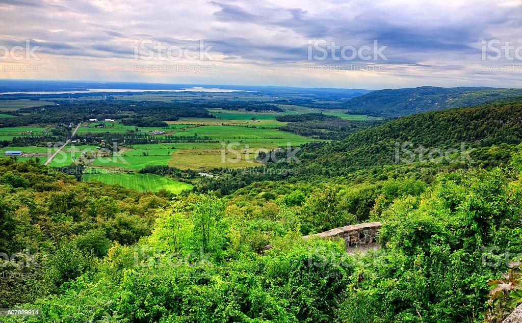 Ottawa Valley from Gatineau stock photo