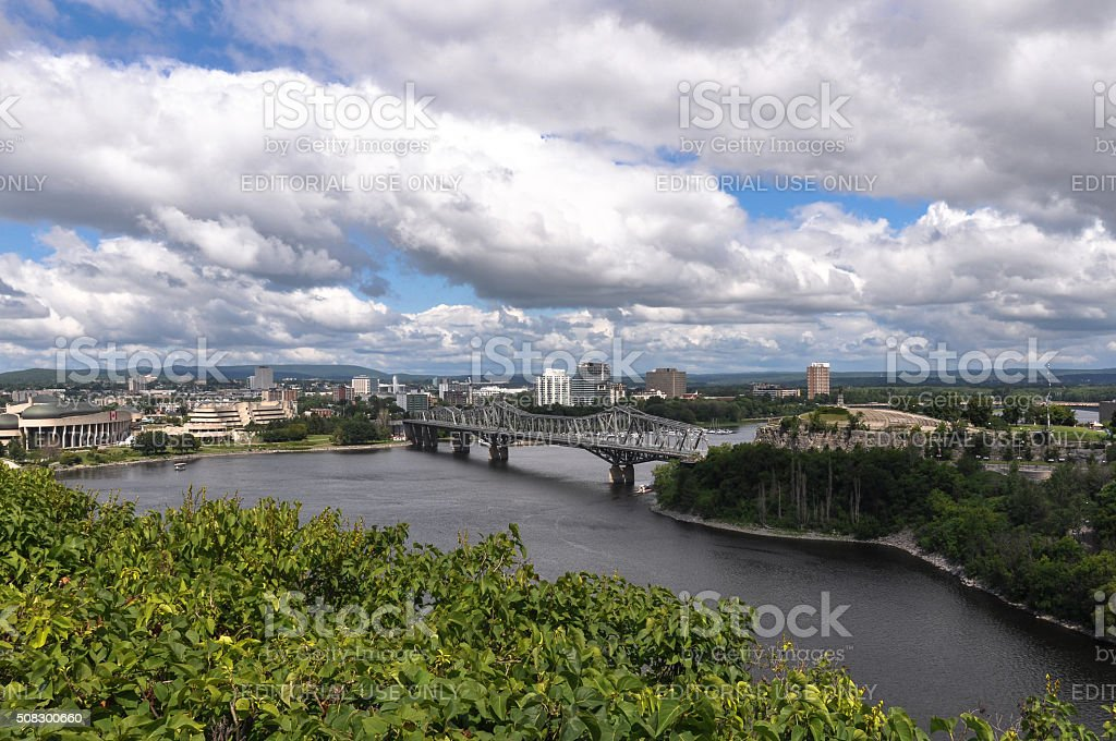 Ottawa view from the Parliament Hill, Canada stock photo
