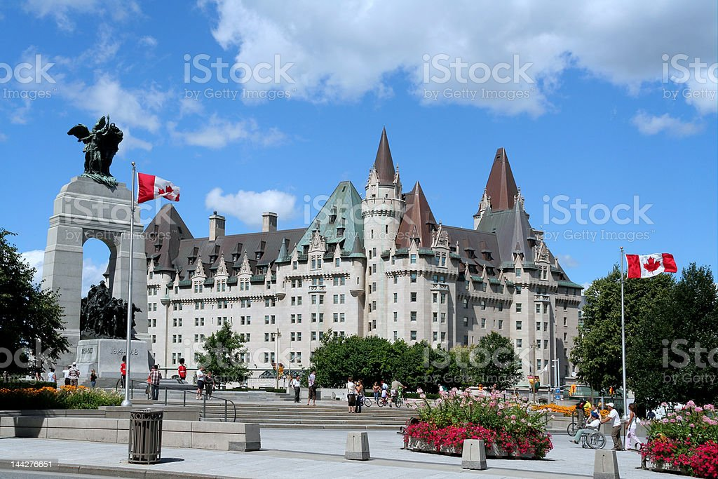 Ottawa, World War I Memorial Cenotaph stock photo