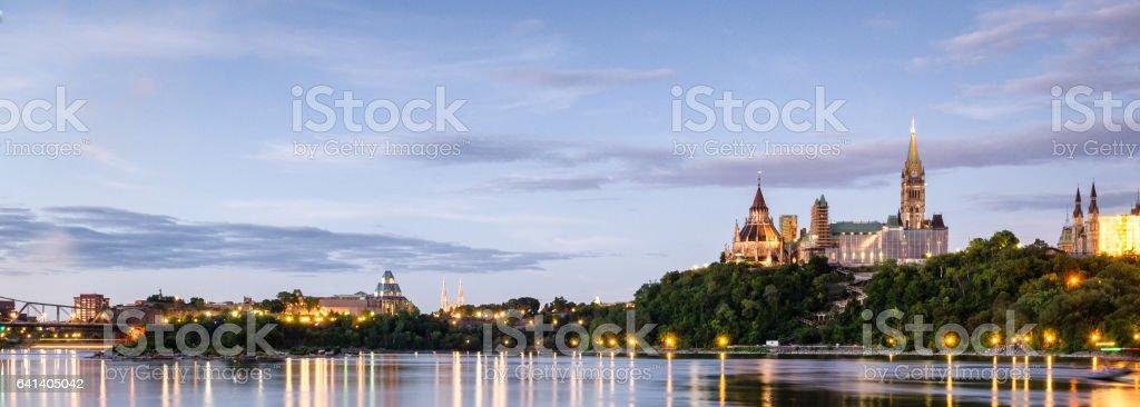 Ottawa's Parliament of Canada stock photo