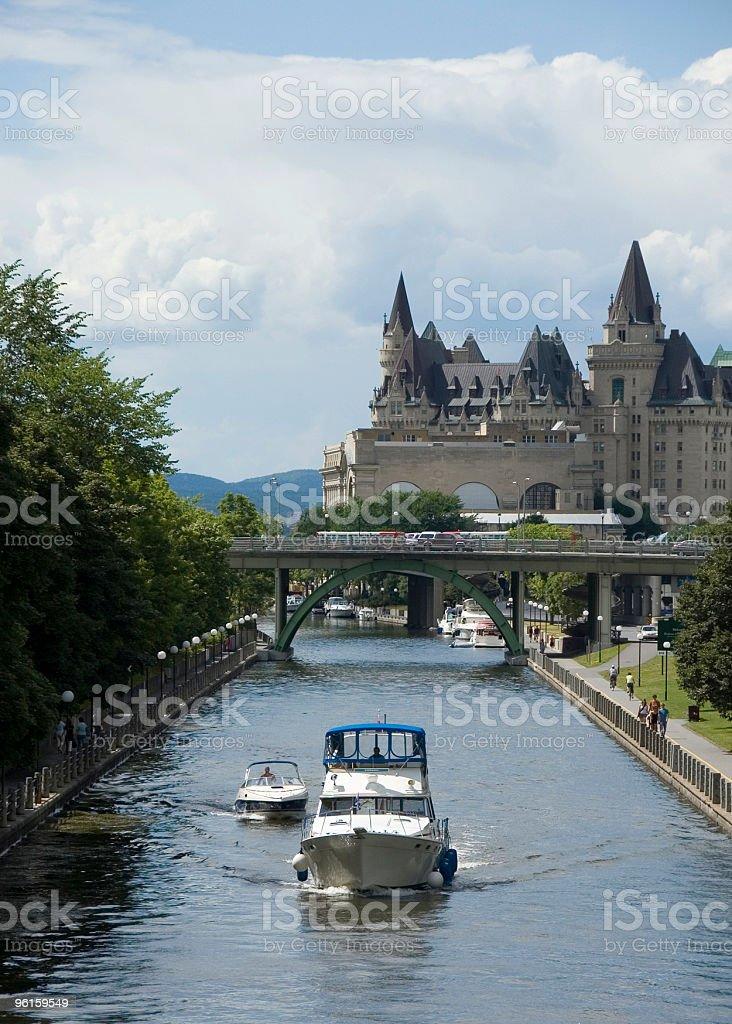Ottawa's Rideau Canal (UNESCO) stock photo