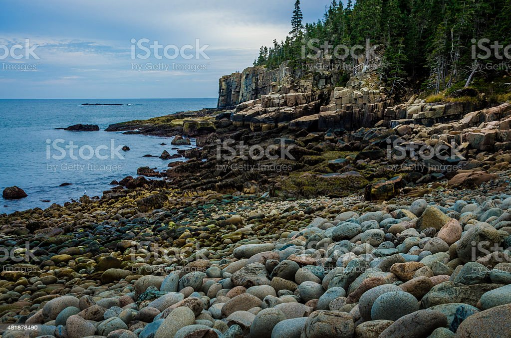 Otter Cliffs stock photo