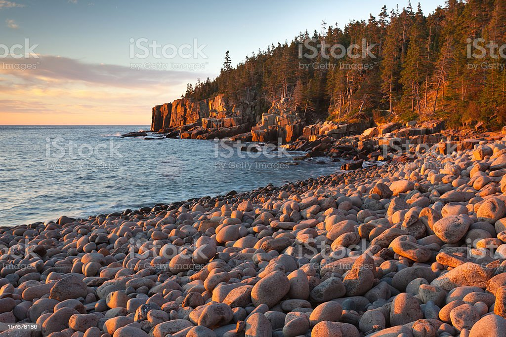 Otter Cliffs Seascape stock photo