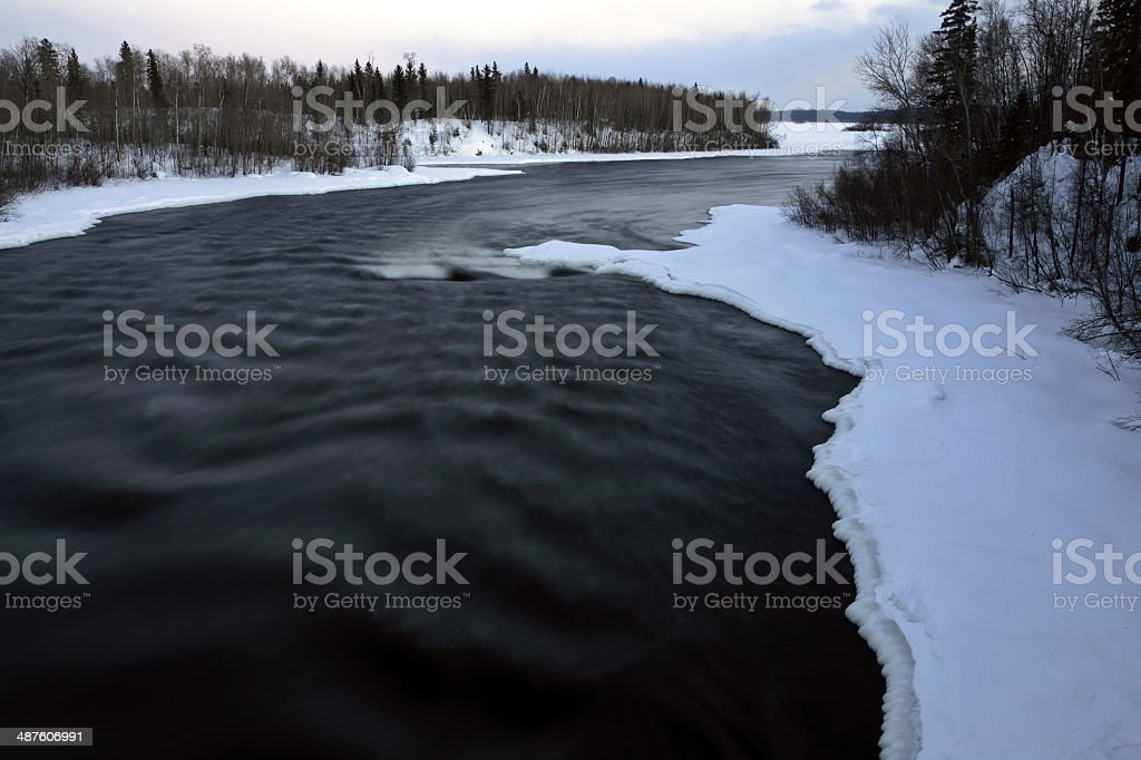 Otter Rapids in early spring stock photo