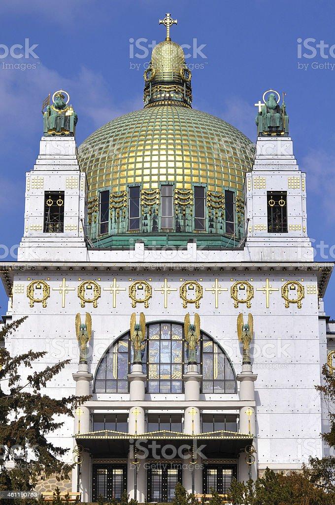 Otto Wagner Church in Vienna, Austria stock photo