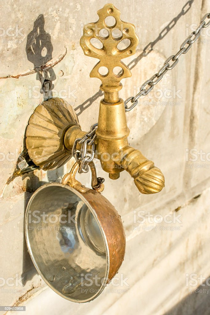 Ottoman Antique fountain Water Tap stock photo