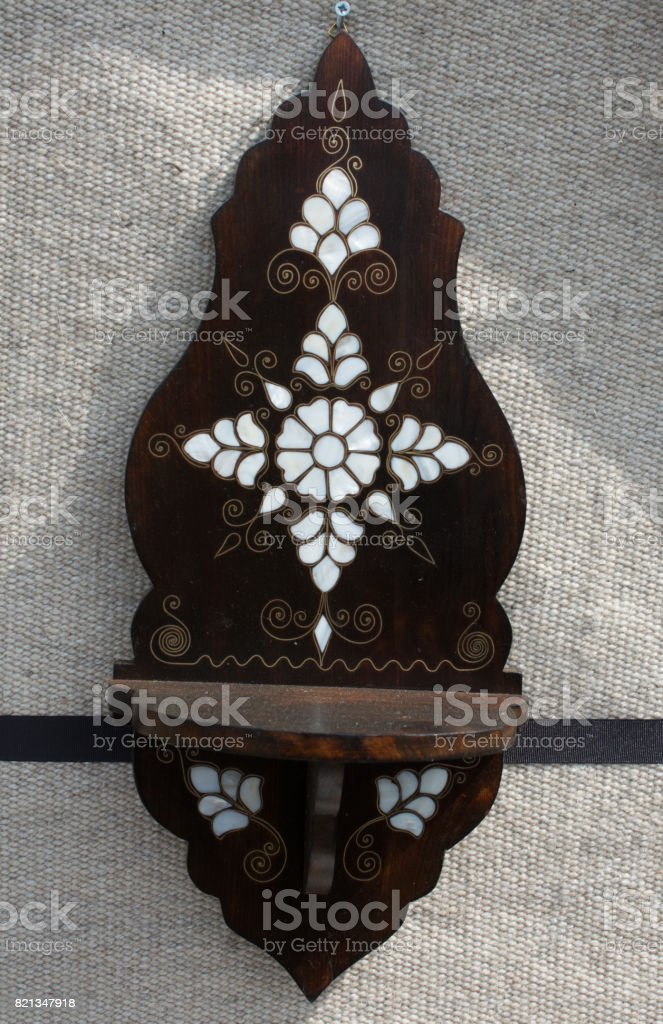 Ottoman art example of Mother of Pearl inlays stock photo