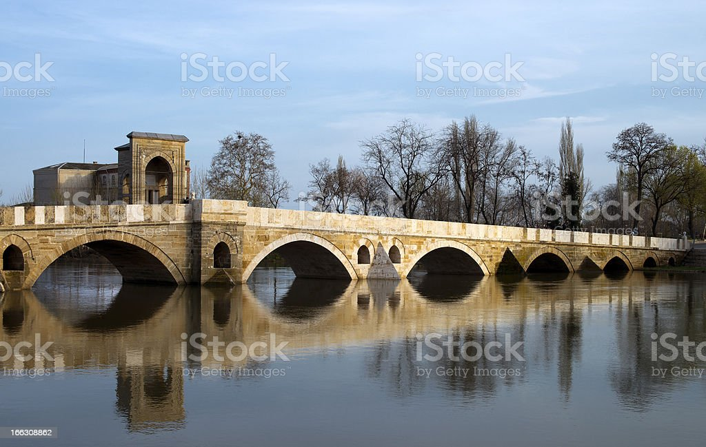 Ottoman Bridge in Edirne royalty-free stock photo