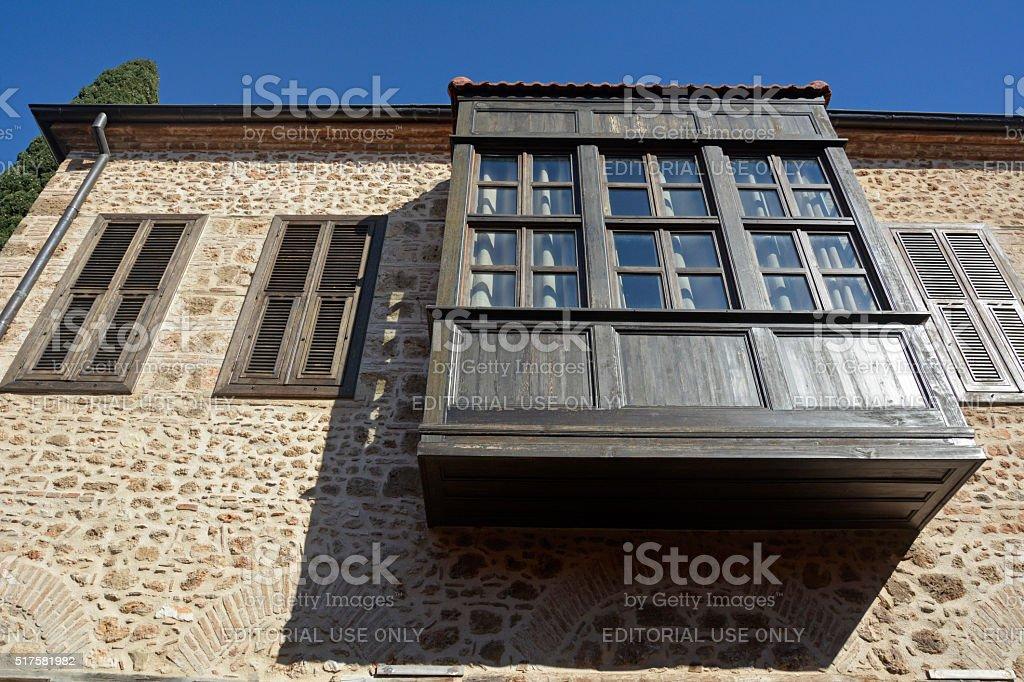 Ottoman building in historic quarter of Antalya, Kaleici. stock photo