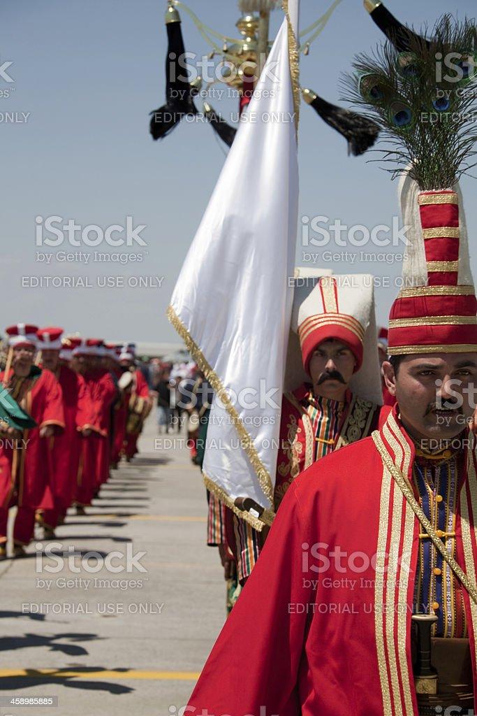 Ottoman military band,izmir royalty-free stock photo