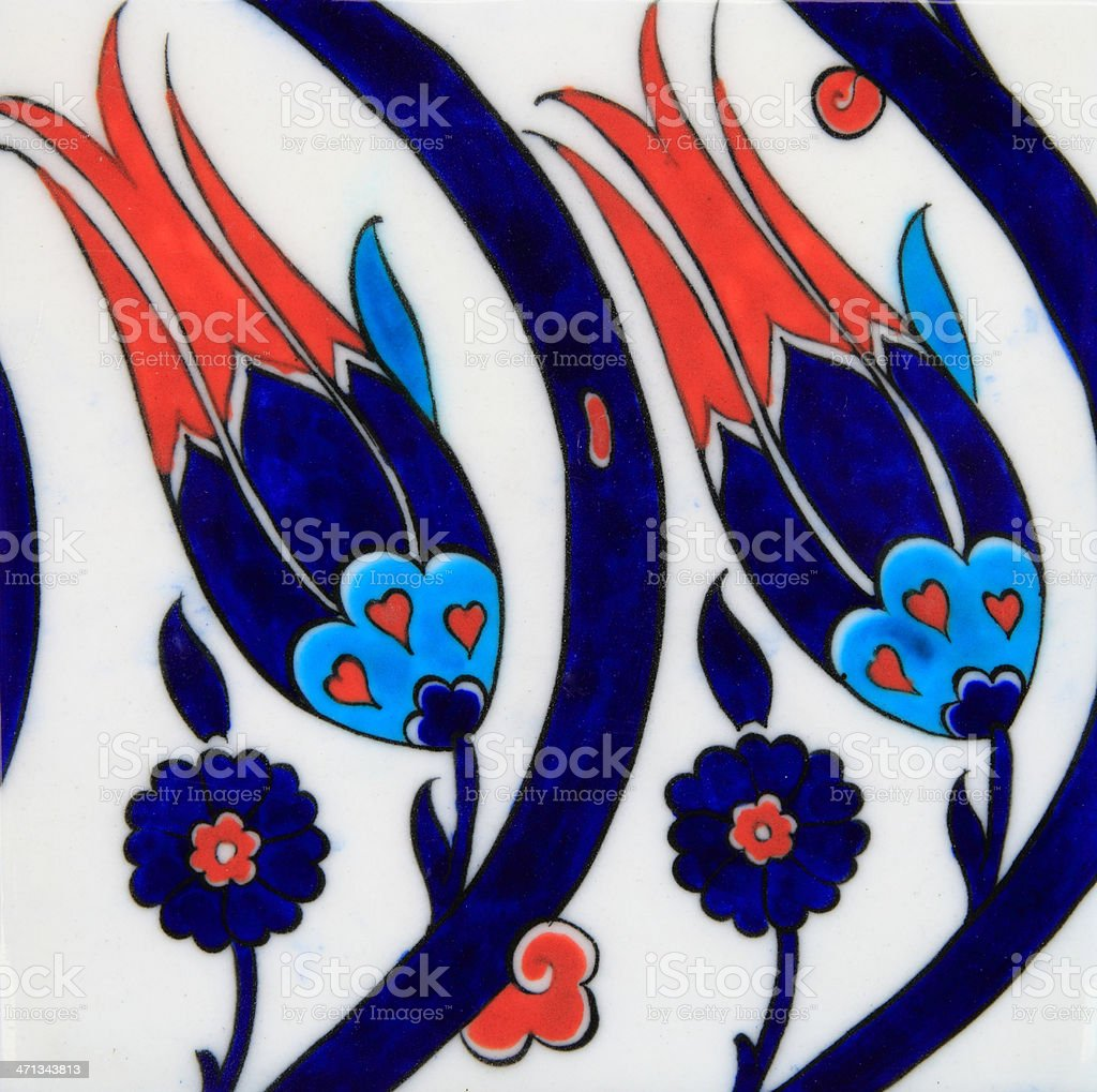 Ottoman Style Ceramic stock photo